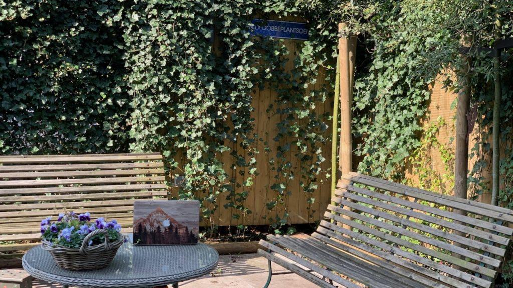 Werkplek in de tuin